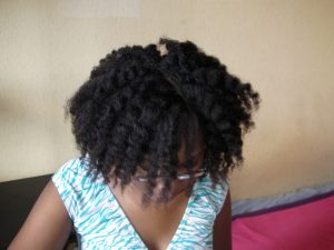 twist-out volumineux