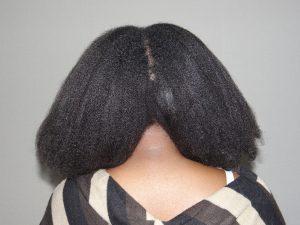 séchage au sèche-cheveu sans peigne - cheveux crépus