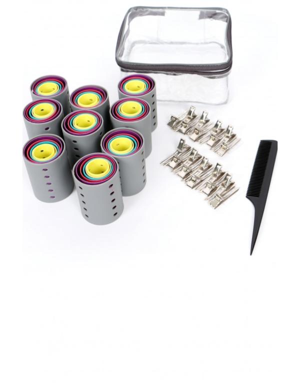 Kit de rouleaux avec clips et peigne à queue Goody