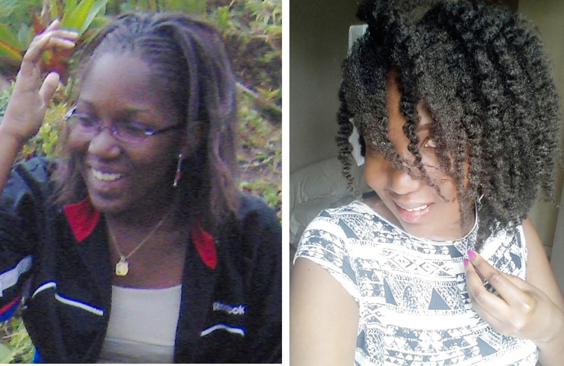 Comparaison des cheveux de Misscamaelle, défrisés vs naturels