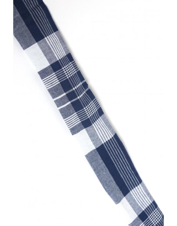 Petit foulard avec fil de fer pour chignon en wax Ebeni