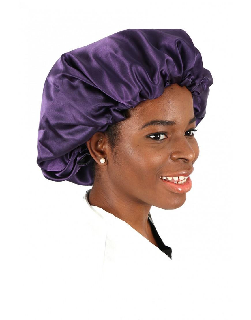 design de qualité design élégant qualité incroyable Bonnet de nuit réversible en satin Embrace The Natural You Violet