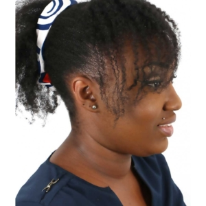 Bandeau en wax avec fil de fer Ebeni